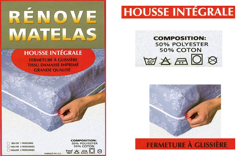 prot ge matelas housse int grale ebay. Black Bedroom Furniture Sets. Home Design Ideas
