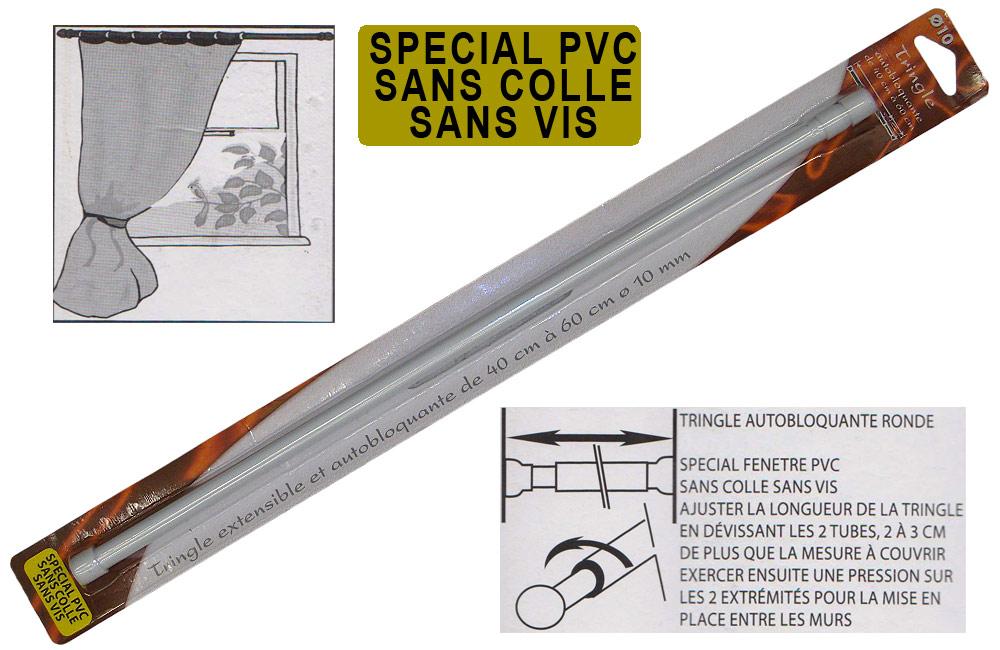 tringle À rideaux blanche extensible spÉciale pvc diamÈtre 10mm 40